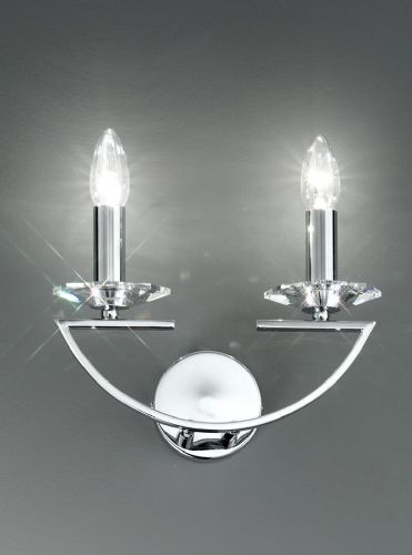 Franklite FL2241/2 Chrome Wall Light